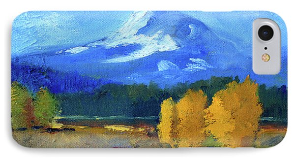 IPhone Case featuring the painting Mount Hood by Nancy Merkle