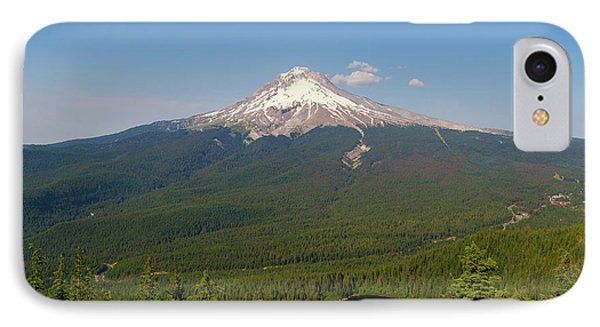 Mount Hood Over Mirror Lake Phone Case by David Gn