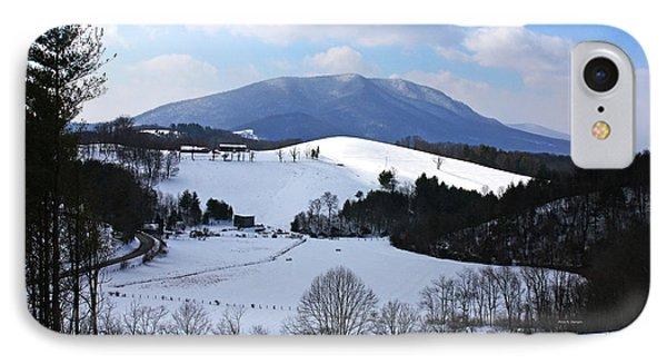 Mount Jefferson Winter IPhone Case by Dale R Carlson