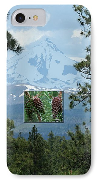 Mount Jefferson With Pines IPhone Case