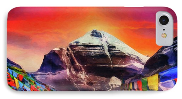 Mount Kailash - The Pillar Of The World IPhone Case by Serge Averbukh