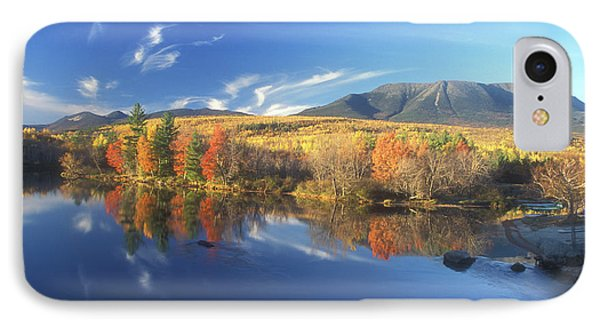 Mount Katahdin From Abol Bridge IPhone Case by John Burk