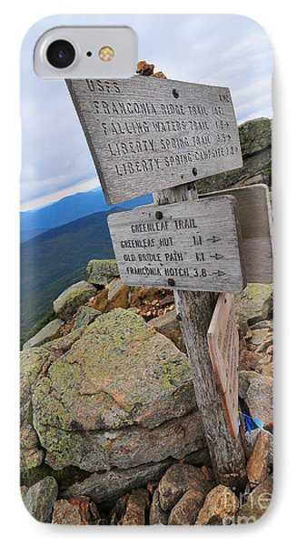 Mount Lafayette Summit IPhone Case by Catherine Reusch Daley