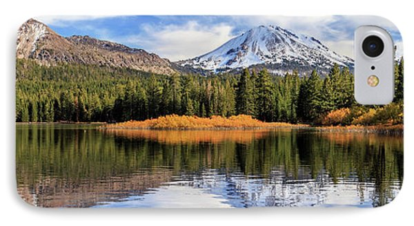 Mount Lassen Reflections Panorama IPhone Case