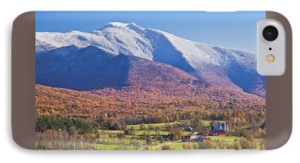 Mount Mansfield Autumn Snowfall IPhone Case