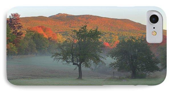 Mount Monadnock Autumn Morning IPhone Case by John Burk