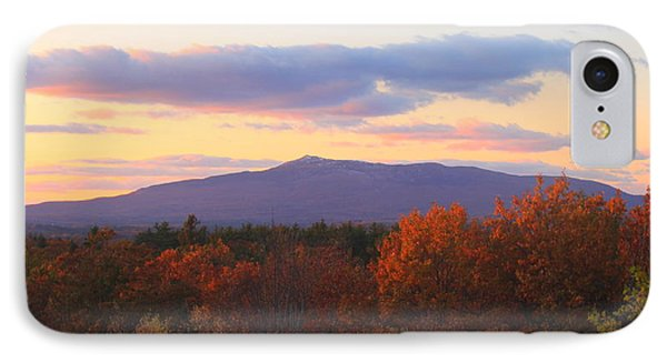 Mount Monadnock Autumn Sunset Phone Case by John Burk