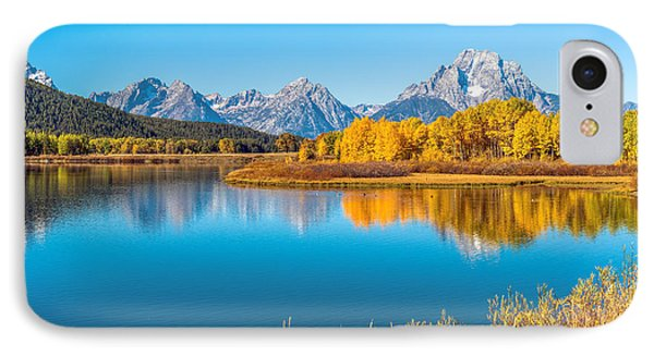 Mount Moran From The Snake River In Autumn Phone Case by James Udall