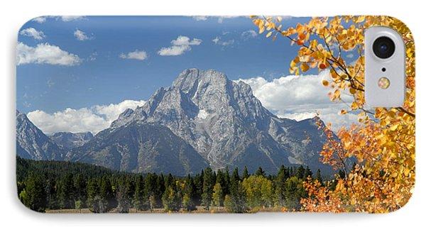 Mount Moran In Autumn Phone Case by Larry Ricker