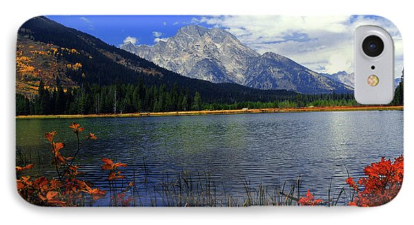 IPhone Case featuring the photograph Mount Moran In The Fall by Raymond Salani III