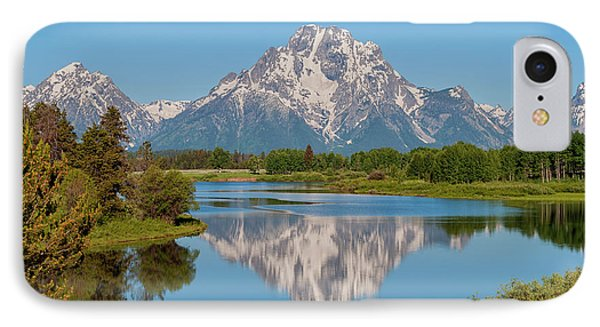 Mount Moran On Snake River Landscape IPhone Case by Brian Harig
