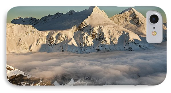 Mount Pollux And Mount Castor At Dawn Phone Case by Colin Monteath