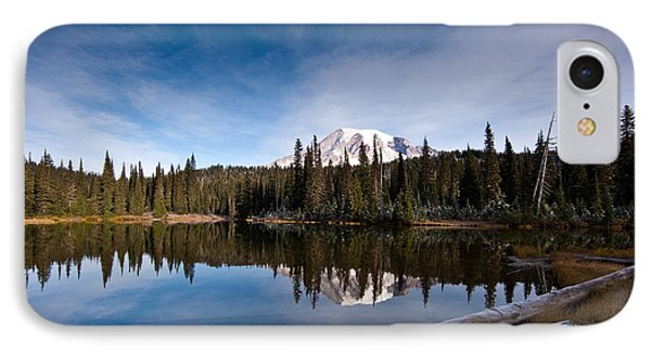 Mount Rainier Reflection IPhone Case by Mike Reid