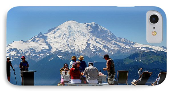 IPhone Case featuring the photograph Mount Rainier Seen From Crystal Mountain Summit  7 by Tanya  Searcy