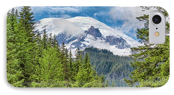 IPhone Case featuring the photograph Mount Rainier View by Stephen Stookey