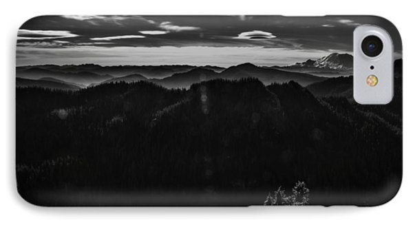 Mount Rainier With Rolling Hills IPhone Case