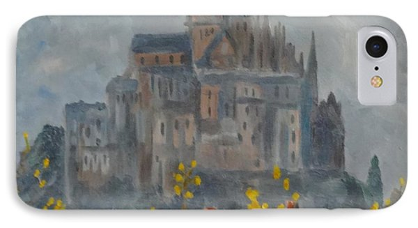 IPhone Case featuring the painting Mount Saint Michael by Rod Ismay