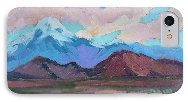 IPhone Case featuring the painting Mount San Gorgonio by Diane McClary