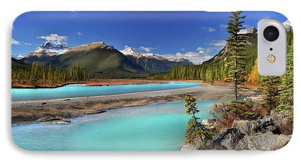Mount Saskatchewan IPhone Case by John Poon