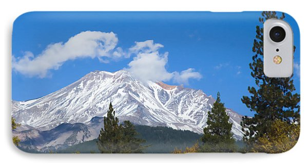 IPhone 7 Case featuring the photograph Mount Shasta California by Yulia Kazansky
