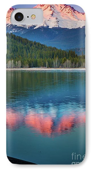 Mount Shasta Sunset IPhone Case by Inge Johnsson
