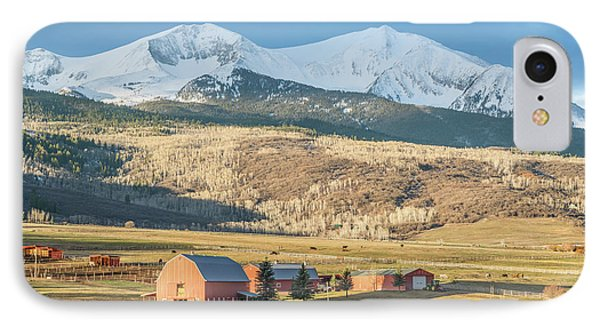 IPhone Case featuring the photograph Mount Sopris Sunrise by Eric Glaser