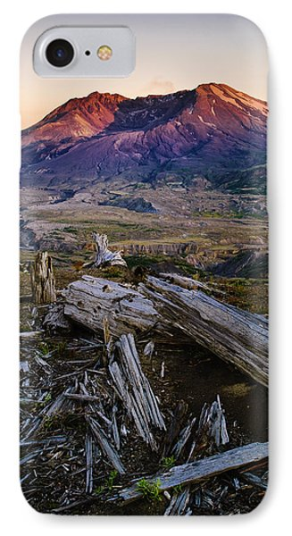 Mount St. Helens Sunset Phone Case by Greg Vaughn - Printscapes