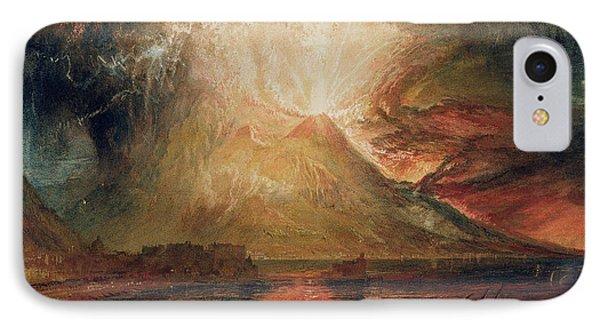 Mount Vesuvius In Eruption IPhone Case by Joseph Mallord William Turner