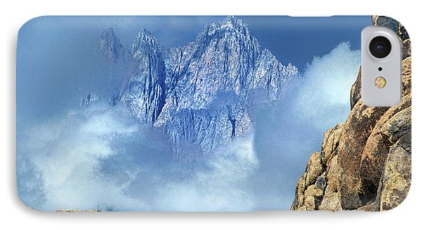 Mount Whitney Clearing Storm Eastern Sierras California IPhone Case by Dave Welling