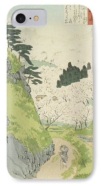 Mount Yoshino, Cherry Blossoms IPhone Case by Kobayashi Kiyochika