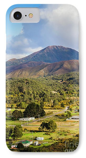 Mount Zeehan Valley Town. West Tasmania Australia IPhone Case by Jorgo Photography - Wall Art Gallery
