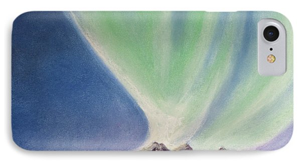 IPhone Case featuring the painting Mountain Aurora by Stanza Widen