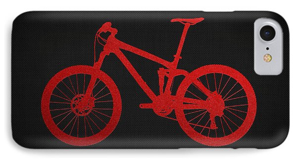 Mountain Bike - Red On Black IPhone Case