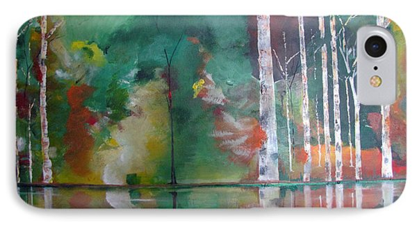 IPhone Case featuring the painting Mountain Birch by Gary Smith