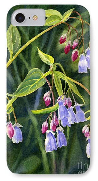 Mountain Bluebells With Background IPhone Case by Sharon Freeman