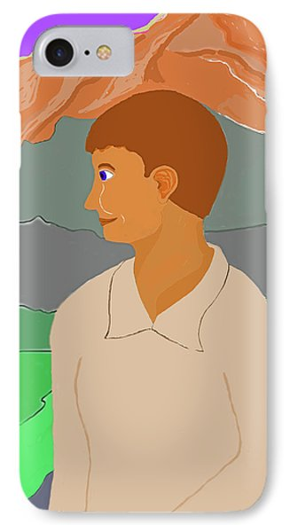 Mountain Boy Phone Case by Fred Jinkins