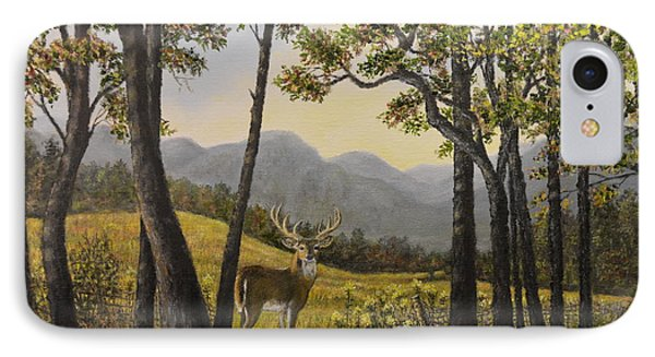 IPhone Case featuring the painting Mountain Buck by Kathleen McDermott