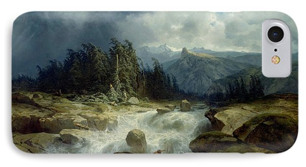 Mountain By Storm Torrent IPhone Case by Alexandre Calame