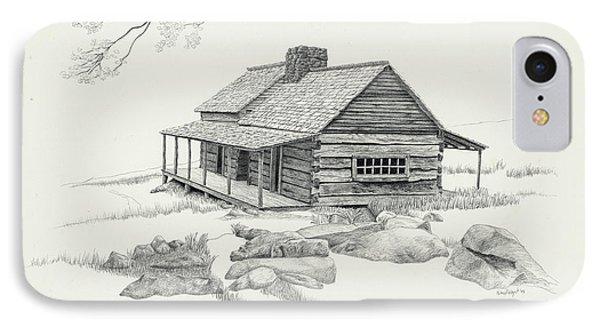 Mountain Cabin IPhone Case by Nancy Hilgert