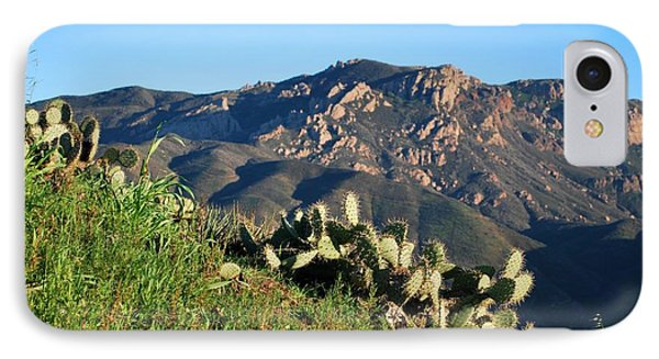 IPhone Case featuring the photograph Mountain Cactus View - Santa Monica Mountains by Matt Harang