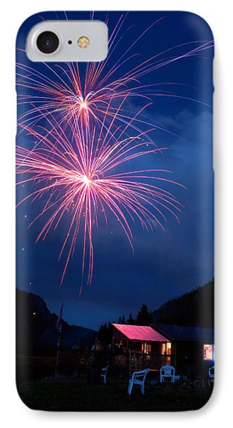 Mountain Fireworks Landscape Phone Case by James BO  Insogna