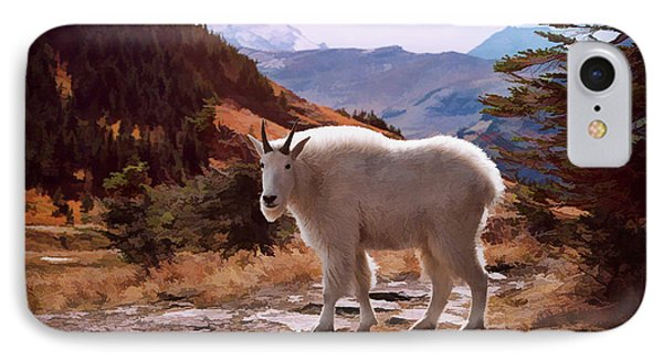 Mountain Goat Phone Case by Patricia Montgomery