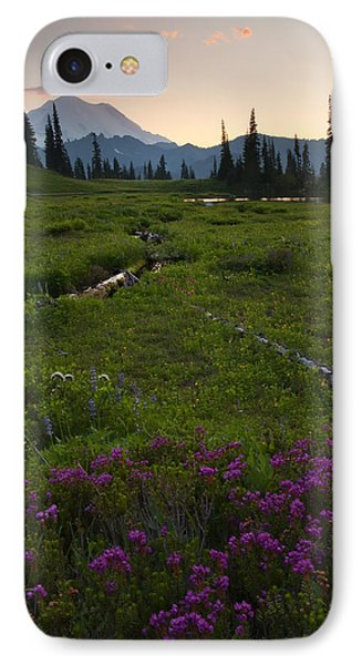 Mountain Heather Sunset Phone Case by Mike  Dawson