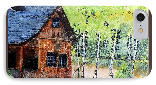 IPhone Case featuring the painting Mountain Home by Tom Riggs