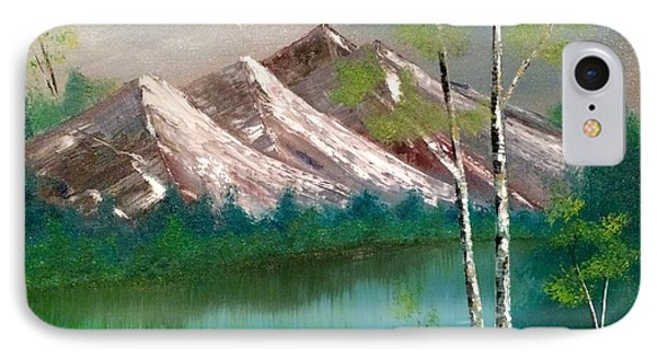IPhone Case featuring the painting Mountain Lake by Denise Tomasura