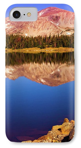 IPhone Case featuring the photograph Mountain Lake Reflections by John De Bord