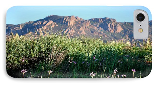 IPhone Case featuring the photograph Mountain Landscape View - Purple Flowers by Matt Harang