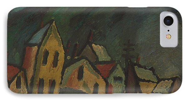 Mountain Landscape With Houses IPhone Case by Alexej von Jawlensky