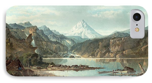 Mountain Landscape With Indians IPhone Case