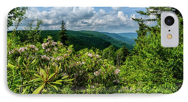 IPhone Case featuring the photograph Mountain Laurel And Ridges by Thomas R Fletcher